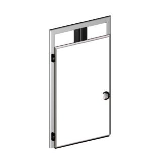 Meat rail passage hinged doors (CPG)